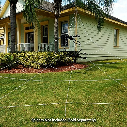Colonel Pickles Novelties Halloween Decorations - Giant Spider Web – 23 X 18 Feet Mega Size for Scary Yard Decor Or Props