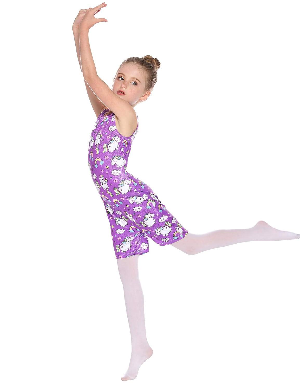 FONLAM Kinder M/ädchen Balletttrikot Tanz Skaten Ballett Gymnastik Trikot f/ür M/ädchen Ballettr/öckchen Trikotanzug