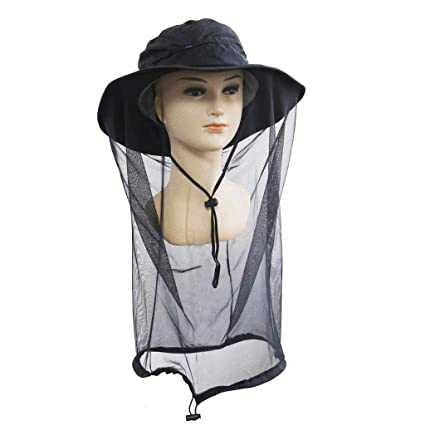 f2722c26 Nature Wind Mosquito Head Net Hat Fishing Hiking Garden Sun Hat, PREMIUM Hat  with Mesh
