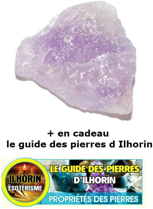 ILHORIN ESOTERISME 1 Am/éthyste Brute Livraison Gratuite en Cadeau Le Guide des Pierres et Chance
