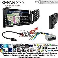 Volunteer Audio Kenwood DNX574S Double Din Radio Install Kit with GPS Navigation Apple CarPlay Android Auto Fits 2009-2010 Ram 2011-2014 Chrysler 200 (REF, REC, and RAK Factory Radios)