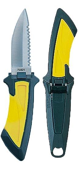Tusa Mini-Cuchillo FK-10 Punta afilada Negro: Amazon.es ...