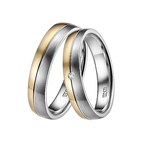 5a182074213a doosti Trau bicolor de anillos alianzas Partner 333 de oro amarillo oro