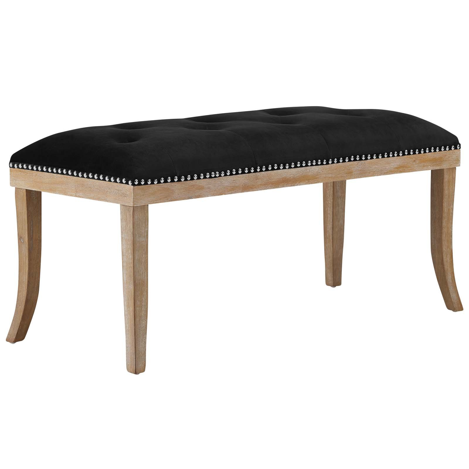 Modway EEI-2574-BLK Expression Upholstered Fabric Bench, Black
