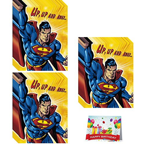 (Superman Birthday Party Invitations Bundle Pack of 24)