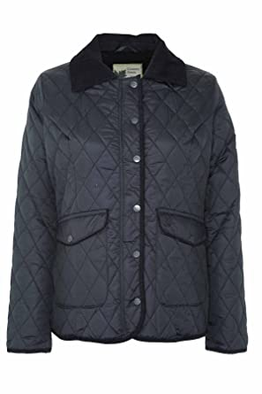 52d0849dbd0 Ladies Country Estate Zipped & Studded Quilted Short Winter Coat Jacket  Black 14: Amazon.co.uk: Clothing