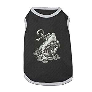 Dog T-Shirt Clothes Dark Shark Doggy Puppy Tank Top Pet Cat Coats Outfit Jumpsuit Hoodie