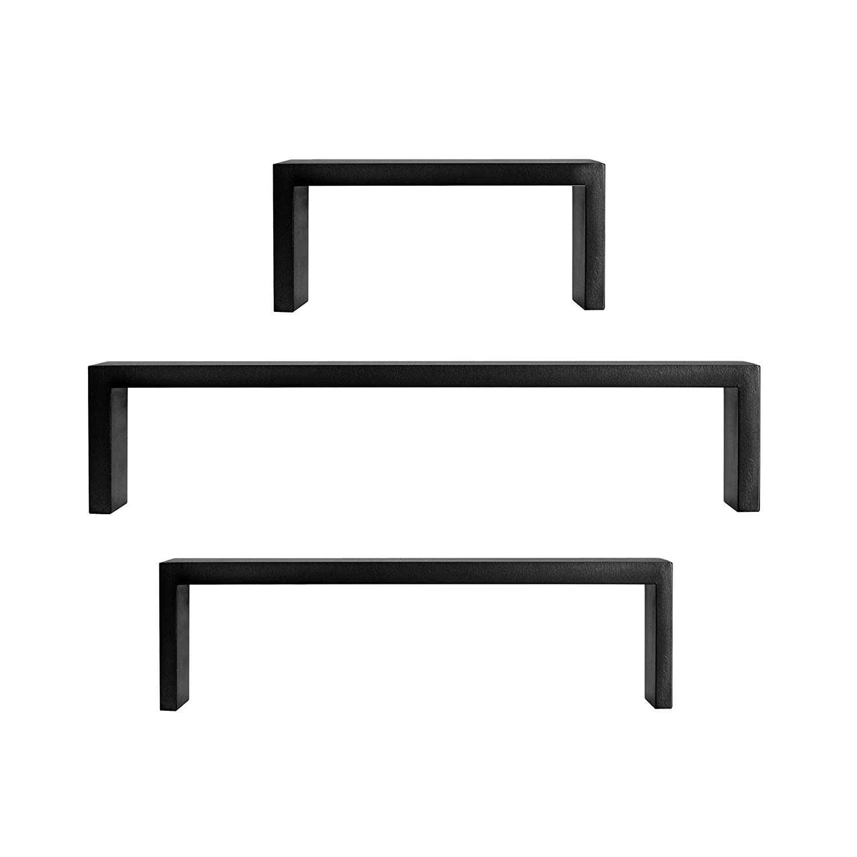 Amazon.com: Melannco Nesting U Shaped Shelves Set, Black, Set of 3 ...