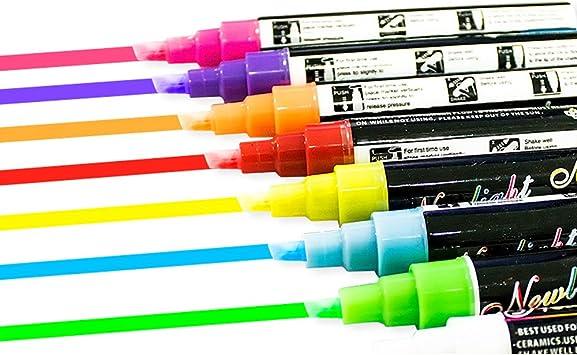 8 Farben Fluoreszierende Textmarker Stift Büromaterial