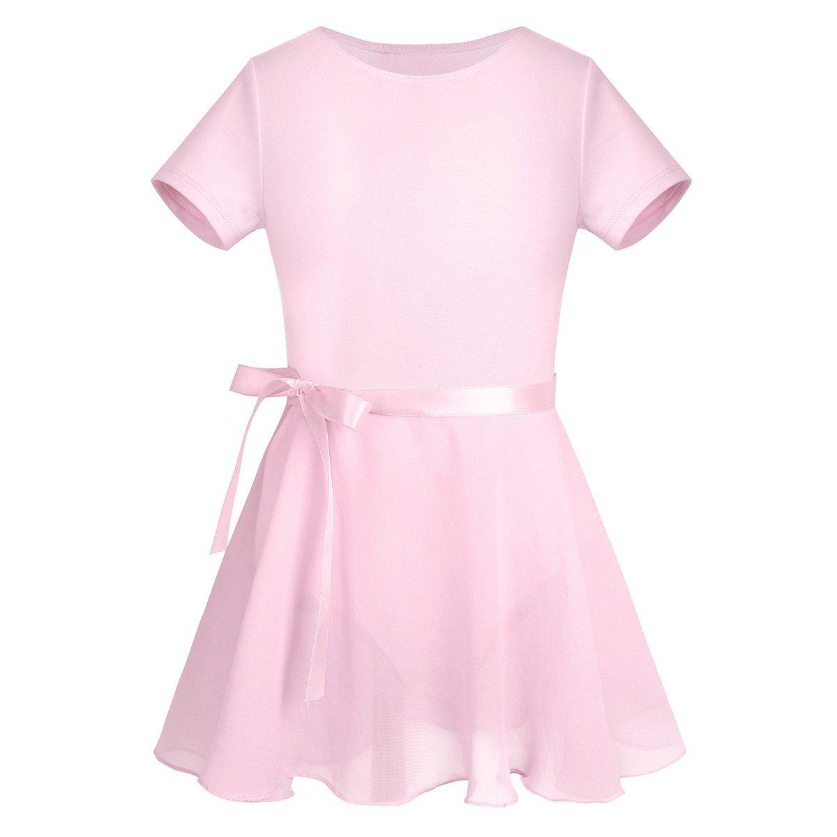 買得 Alvivi DRESS ガールズ Short B07DWY431N 3/ 4|Short Sleeves Sleeves Sleeves Pink Short Sleeves Pink 43528, 木製子供用家具直販ベビファニ:86281b8e --- advertdigitalmantra.com