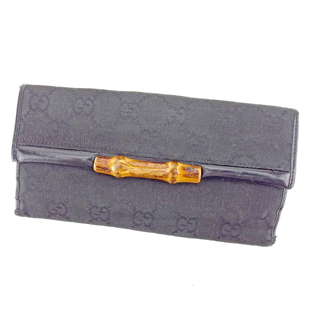 グッチ GUCCI 長財布 Wホック 財布 レディース メンズ バンブー 112535 GGキャンバス 中古 B1056   B07Q86Z1ZP