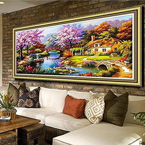 Quite Moments, 50x40cm TINMI ARTS 5D DIY Diamond Painting Kits for Adults Flowers Cross Stitch Rhinestone Embroidery Home Wall Decoration