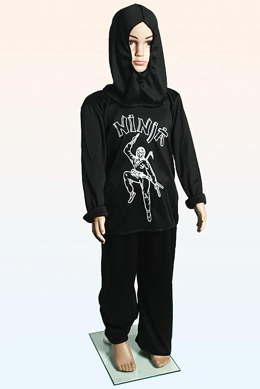 Niños - Disfraz Black Ninja, pantalones, Long Camiseta con ...