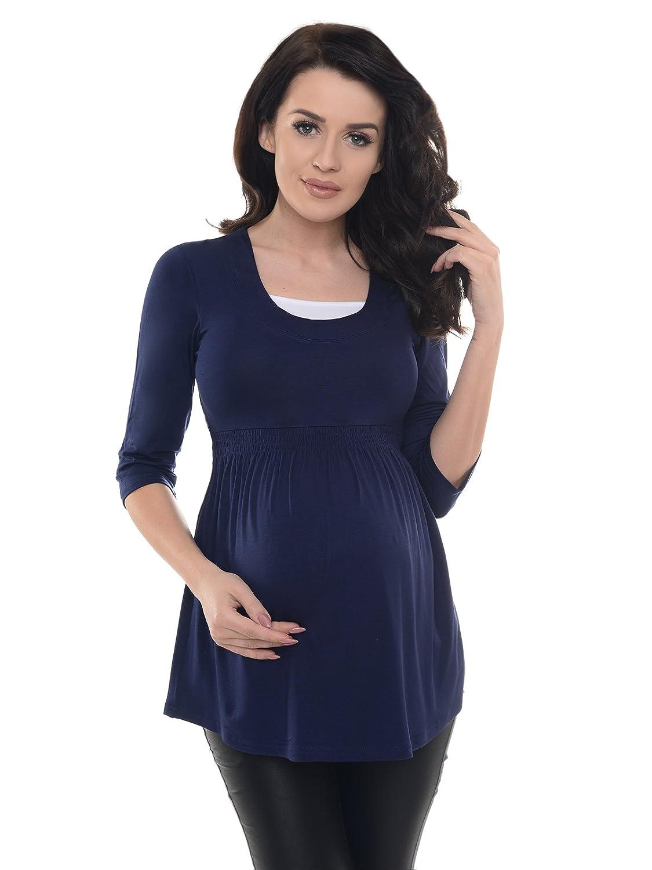 Purpless Maternity Damen 3/4 Arm Schwangerschaft Tunika D5200