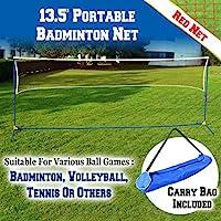 BenefitUSA portátil Set de Voleibol Tenis Bádminton Neta de Playa de Entrenamiento con Bolsa de Transporte 13,5'L