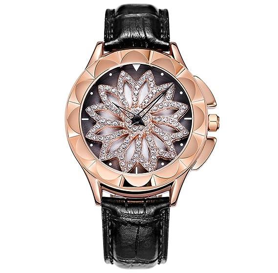Reloj de mujer resistente al agua de moda para mujeres 2018 Reloj de pulsera de cuarzo de nueva tendencia de diamantes de imitación: Amazon.es: Relojes