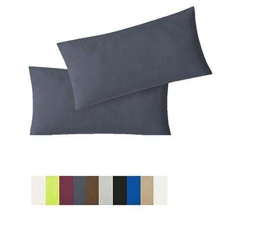 Exklusiv-Heimtextil Juego de 2 Fundas de cojín con Cremallera, de Lana 100% Calidad Jersey, en 10 Colores Diferentes y Diferentes tamaños