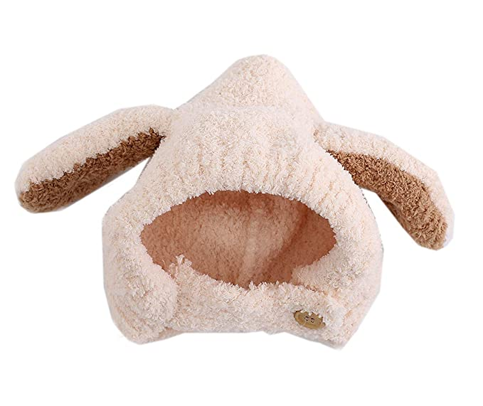 b096ea5b844 Amazon.com  Mordarli Baby Girl Boy Earflaps Rabbit Ears Infant Hats Winter  Warm Soft Teddy Cap  Clothing