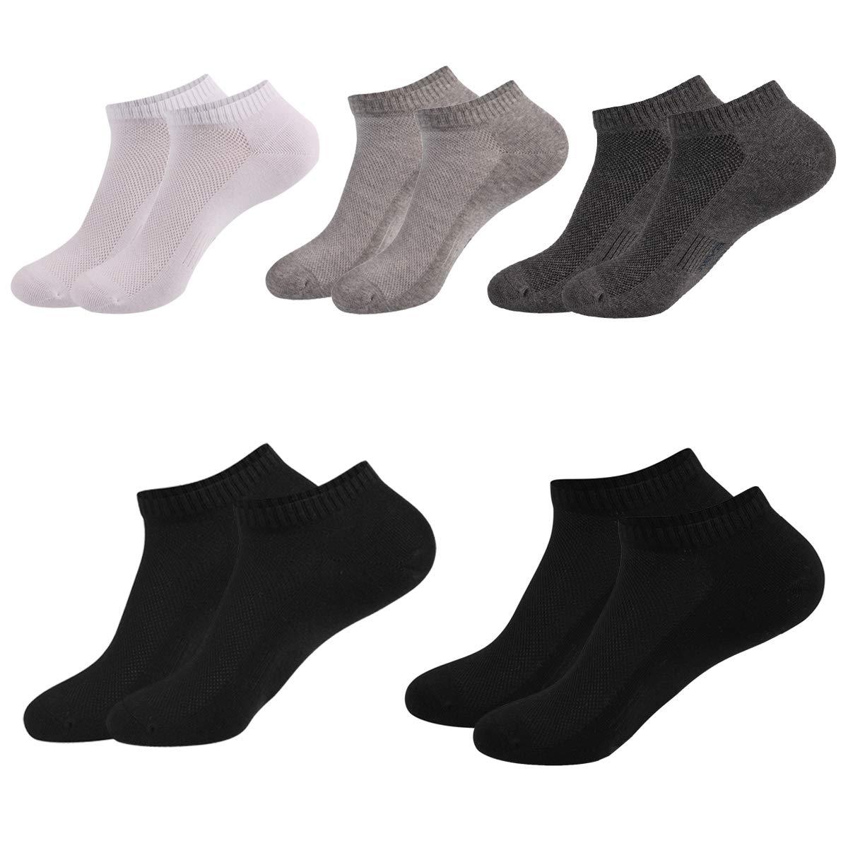 HBF 5 Pares Calcetines Cortos Hombre Algodon Calcetines Invisibles Hombre Multicolor Calcetines Barco product image