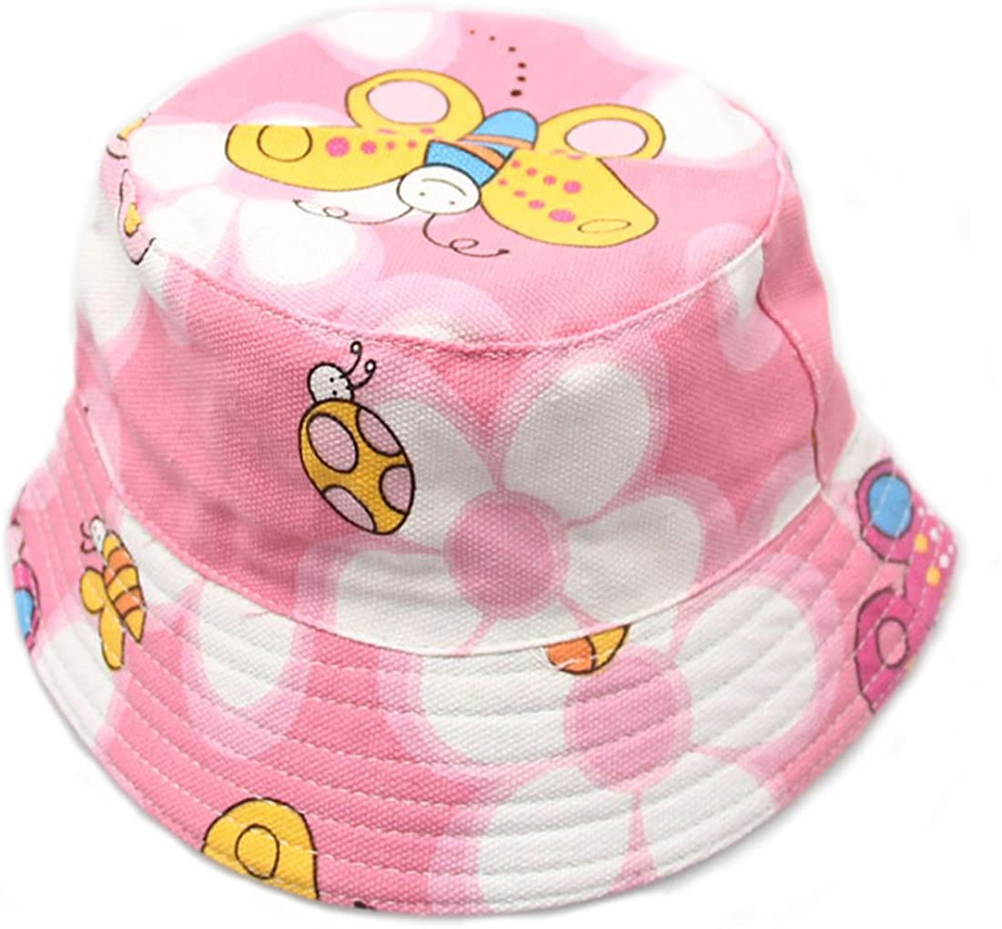 Topcoco Baby Toddler Organic Cotton Sun Protection Reversible Bucket Hat