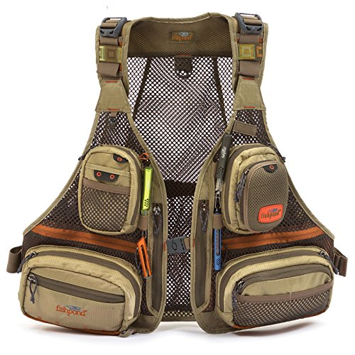 esh Vest Driftwood Recycled Durable Cool Fly Fishing (Mesh Fly Fishing Vest)
