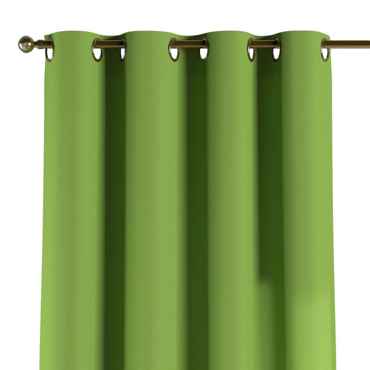 Dekoria Ösenschal Dekoschal Blickdicht 1 Stck. 130 × 260 cm Limone-grün Maßanfertigung möglich