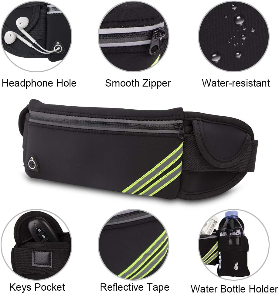 MAXTOP Reflective Large Fanny Pack Water-Resistant Adjustable Waist Pack Bag for Biking Running Jogging Traveling Outdoors Workout Cycling Fitness and Hiking