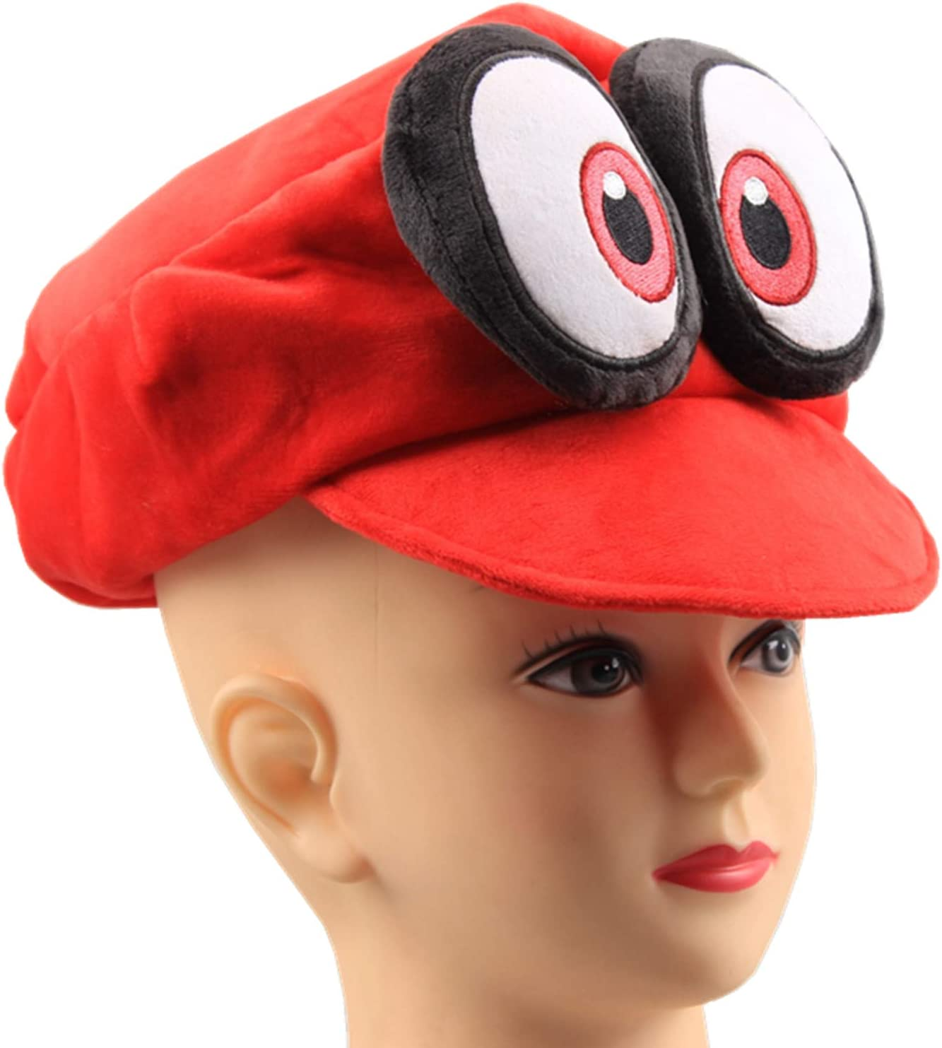 Amazon Com Uiuoutoy Super Mario Odyssey Cappy Hat Cosplay Red Plush Toys Games