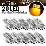 4 x 2 rv marker lights lenses - Partsam 10 Pcs 6
