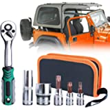 Torx Tool Kit for Jeep Wrangler 2-4 Doors Soft Top Hard Top Door Install Removal Tool Kit Replace 82214166AB Fits 2007…