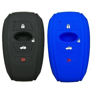 2Pcs Coolbestda 4buttons Key Fob Cover Remote Control Case Keyless Entry Jacket Shell for 2020 2020 Subaru Outback Legacy Forester Sti XV Crosstrek Impreza BRZ WRX: Car Electronics