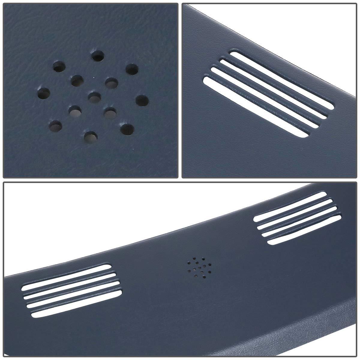 DNA MOTORING ZTL-Y-0093-BL Front Upper Dash Defrost Vent Grille Cover Overlay Blue