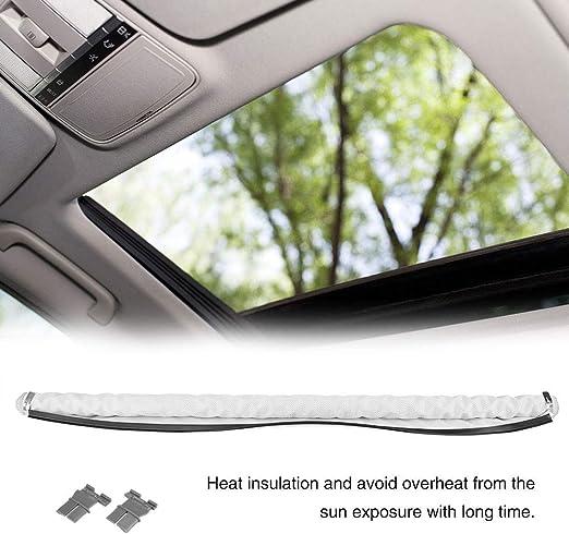 Kimiss Auto Sonnenschutzrollo Sonnenschutz Vorhänge Skylight Shutter Schiebedach Sonnenschutz Auto Baby Aufrollbar Uv Schutz Weiß Auto