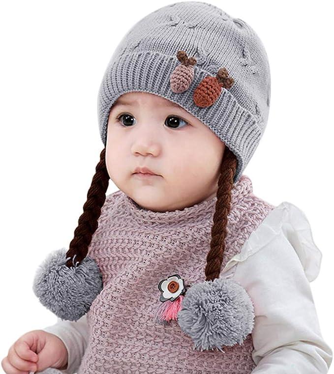 Babies Girl hat and mitten set Kids infant cute Winter Snow warm 0-24 MONTHS New