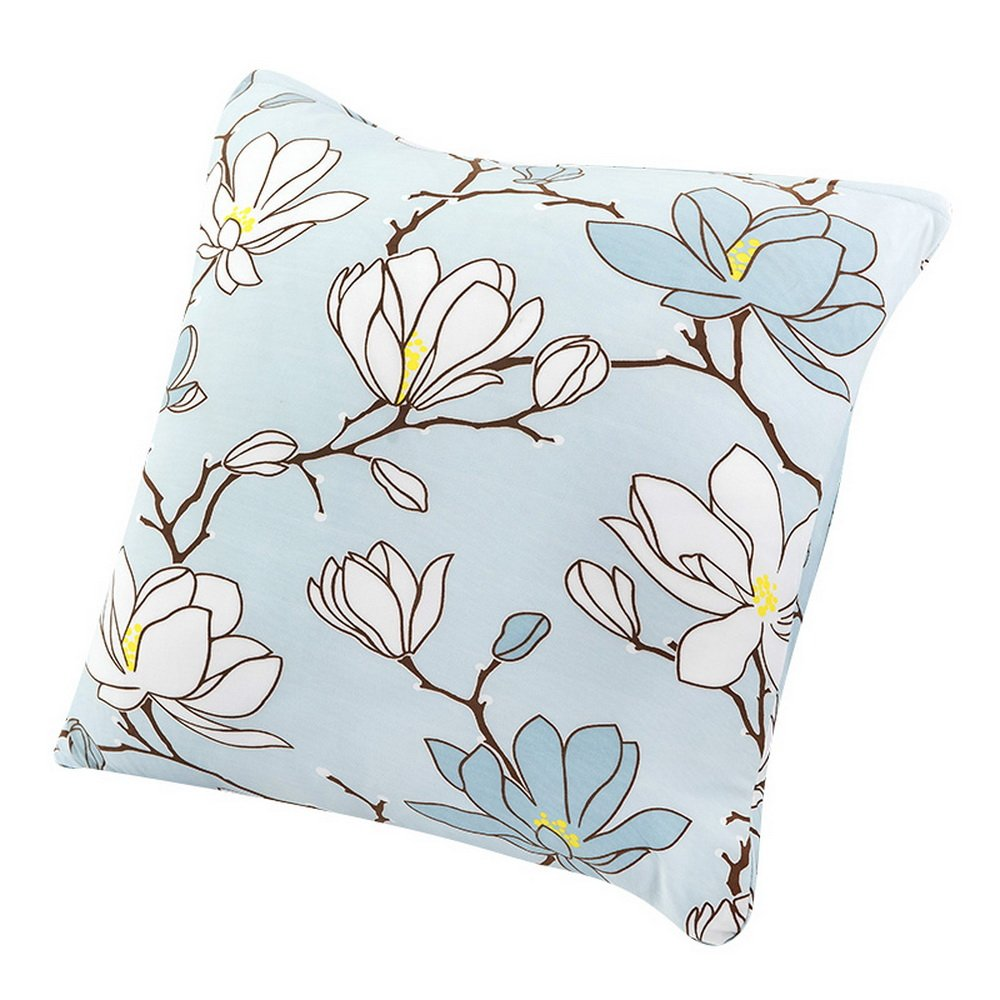 Souarts Flowers Chair Back Cushion Polyester Throw Square Pillowcase Decorative Pillowcase 4545cm by Souarts (Image #2)