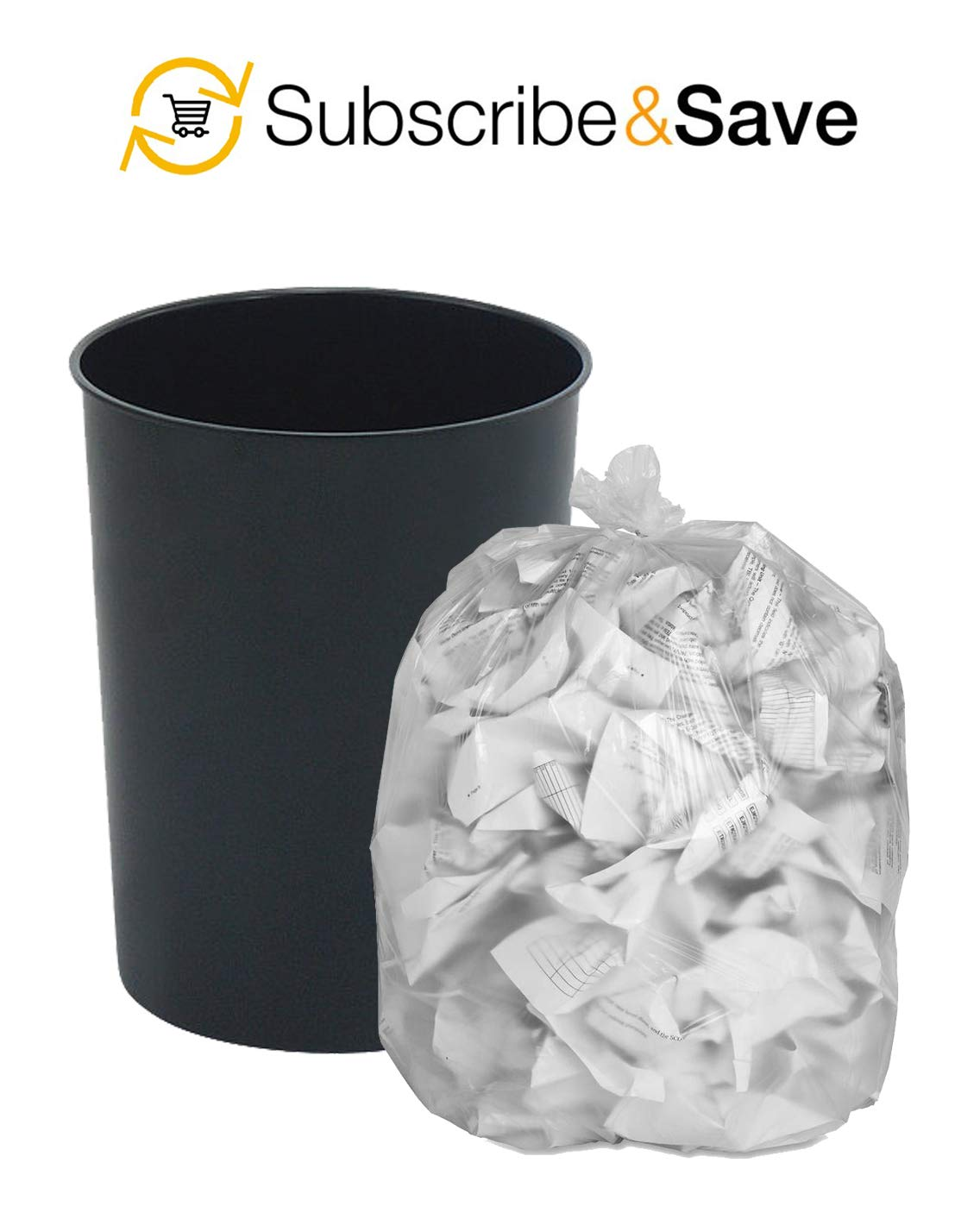 Kitchen APQ Pack of 50 Clear Trash Bags 17 x 18 Tear Resistant Trash Liners for Offices Wholesae Price. High Density Polyethylene Garbage Can Liners 17x18 Schools Thickness 6 Micron