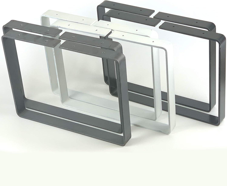 BL003 Lot de 2 bancs avec pieds en acier Design industriel