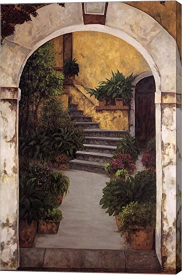 Good Entrada Al Patio By Montserrat Masdeu Canvas Art Wall Picture, Gallery  Wrapped With Image Around