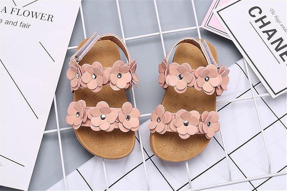 F1rst Rate Toddler Girls Flower Open Toe Strap Sandals Summer Flat Princess Shoes