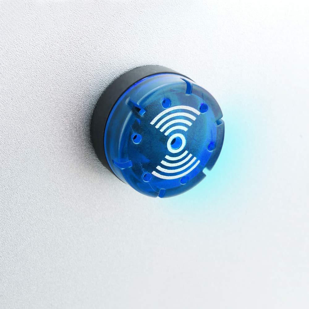 BeMatik - Luz piloto LED intermitente con zumbador de 22 mm para paneles de control 220 VAC azul: Amazon.es: Electrónica