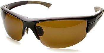 ea3376d12 Polarized TAC Lens Semi-Rimless Action Sports Sunglasses (Brown)