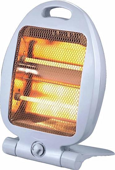 Syntesy cdf07519 Estufa Eléctrica al cuarzo, 800 W, color blanco: Amazon.es: Bricolaje y herramientas