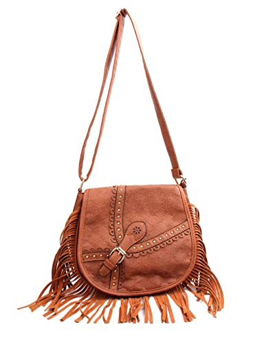cc2433b53668 Crossbody Bag- Vintage Satchel Hollow Tassel Bag for Women Ladies ...