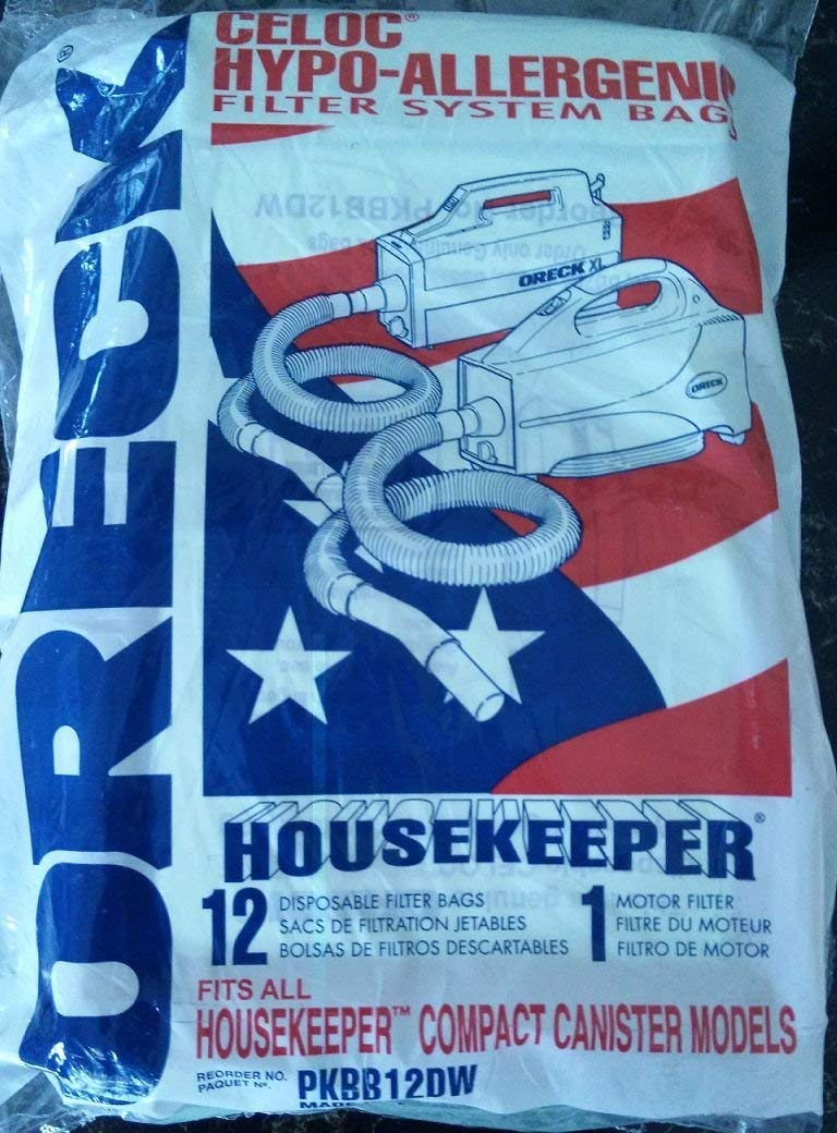 SCORDERS Oreck XL Buster B Canister Vacuum 12 Bags PKBB12DW and 1 Additionally Filter