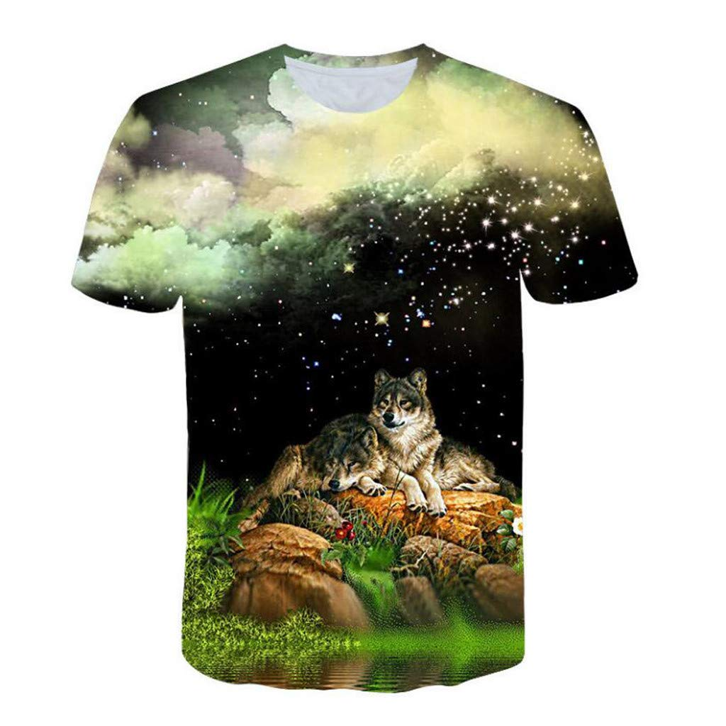 Zulmuliu Mens 3D Print T-Shirt,Summer Short-Sleeved Novelty Tee Shirt Teen Boy Party Daily Shirt