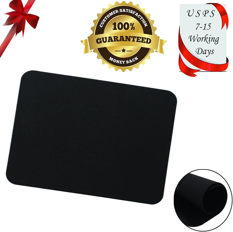 seelike 8x6 No wrist rest Mouse pad mat for PC or laptop video gaming optical mouse, mousepad Mice pad can be used for Logitech, Microsoft, Razer, Steelseries and tablet mouse (Black)