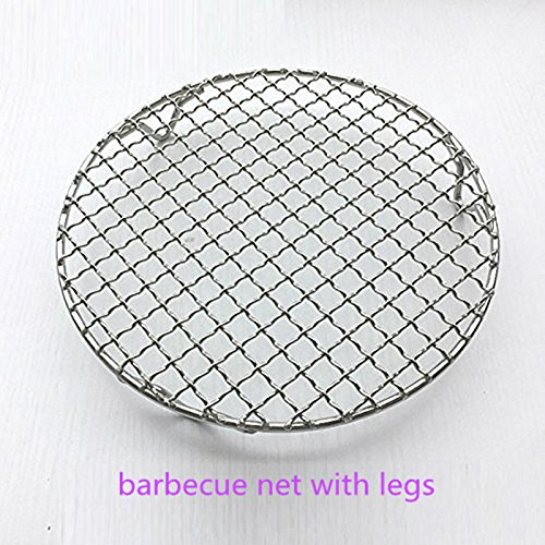 カーボンBaking Net、Steaming冷却バーベキューラックNet withバーベキュー/ BBQ /グリル/多目的ラウンドステンレススチールクロス配線脚 9.45inches シルバー B06Y2PQY3N   9.45inches