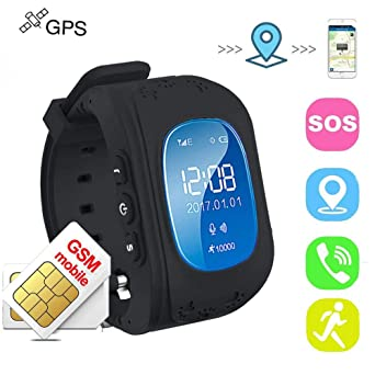TKSTAR Los niños Reloj Inteligente GPS Rastreador niños Reloj de Pulsera teléfono SIM Anti-Lost SOS Pulsera Parent Control por iPhone iOS y Android ...