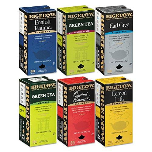 BTC14577 - Flavor Teas, 168/CT, 6 Assorted (Bigelow White Tea Tea)
