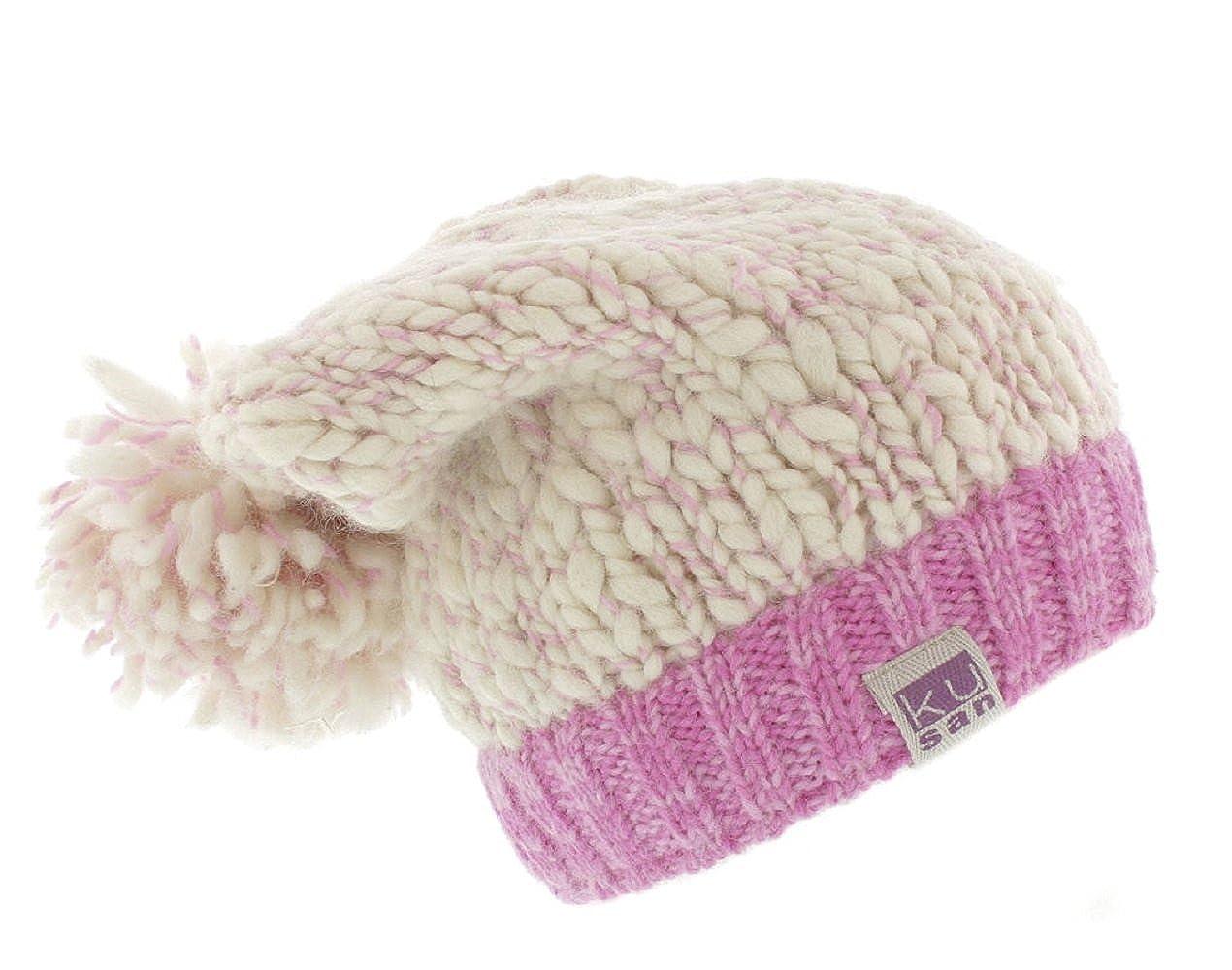 bf5138ad1 Kusan (KU1202 100% Wool Floppy Bobble Beanie hat (Mens/Ladies/Unisex)